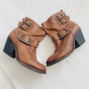 Lucky Brand Lp-Tommie Leather Booties Brown 8.5
